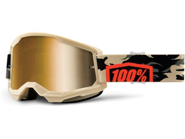 100% Strata Anti-Fog Goggles Gen2 kombat/mirror